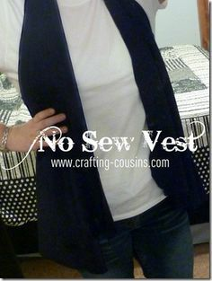How to make vest from a t-shirt for costume
