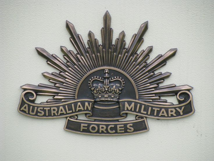 Australian Military Forces Badge casting.