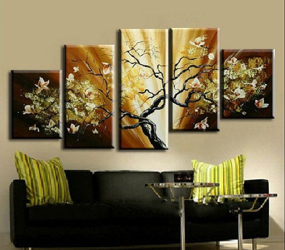 5 piece large wall art on canvas abstract by hybridartgallery idea for dads painting - What is wall decor ...