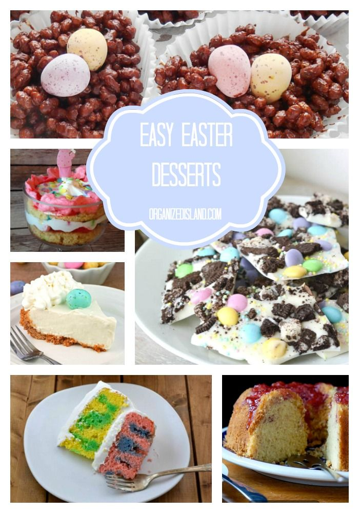 292 best easter themed food drink and decor ideas for Easy dessert recipes for easter