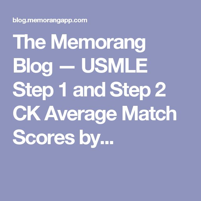 10 best usmle step 3 images on pinterest blog 1 and amazon the memorang blog usmle step 1 and step 2 ck average match scores by fandeluxe Gallery