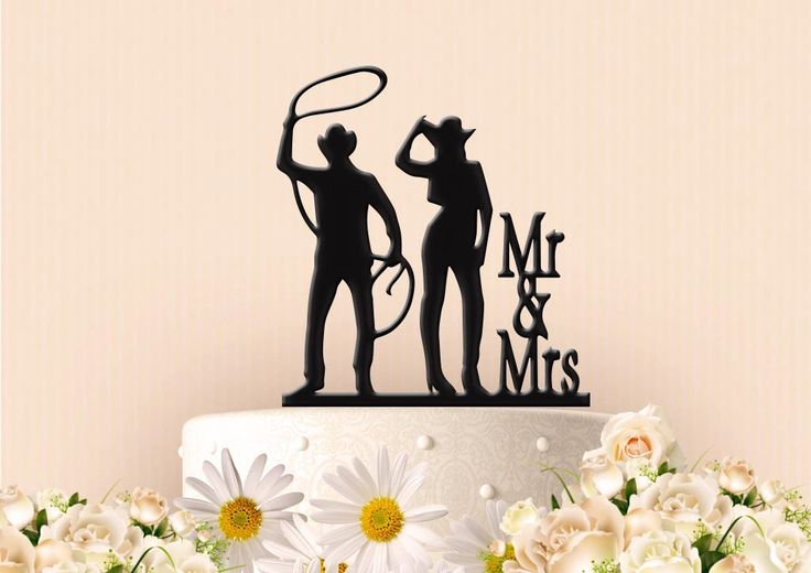 Cowgirl Roping Cowboy Cake Topper