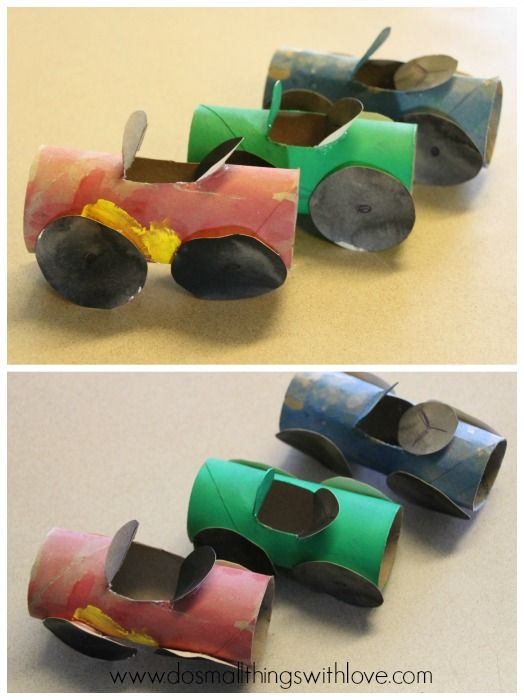 toilet paper roll cars tutorial