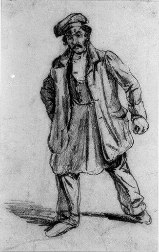 """Figurstudie"" av Carl Andreas Dahlström (1806-69). Nationalmuseum, nr. NMH 293/1882"