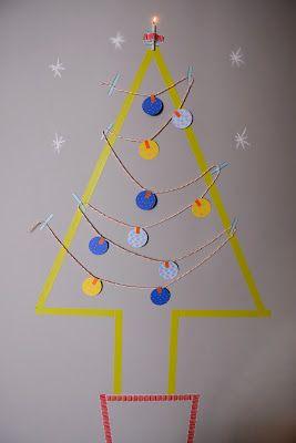 Árvore de Natal de Washi tape * Washi tape Xmas tree