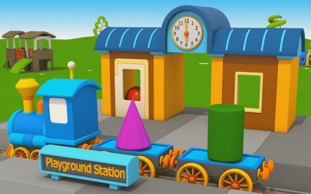 Cartoons for kids - Leo Jr e la nuova stazione del treno Ferrovieri, siete pronti a costruire la stazione ferroviaria de Il Cartone dei Piccoli insieme a Leo Junior? Bisogna disporre i binari del treno in modo da formare un percorso continuo. Il tren #videosforkids #trainstation #cartoons
