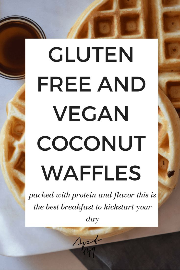 These Gluten Free and Vegan Coconut Waffles are packed with protein and flavor! This is the best breakfast to kickstart your day!