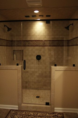 my dream shower walk in shower double shower heads tiled shower master bath shower - Master Showers