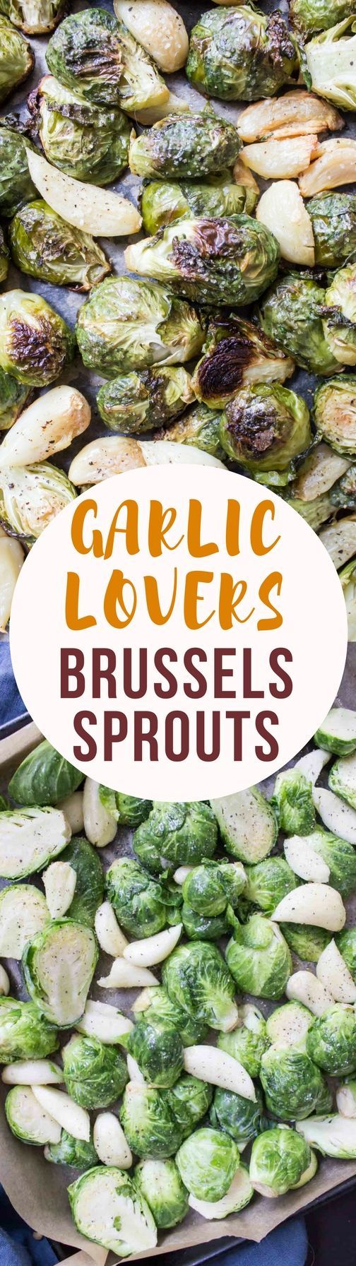 Crispy, salty, and packed with garlic these roasted Brussels sprouts will leave you loving this famously hated vegetable!
