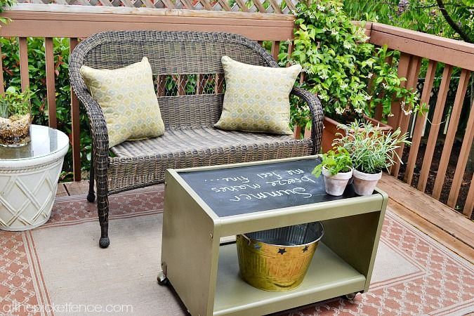 I really wanted an outdoor coffee table to complete a little sitting a…