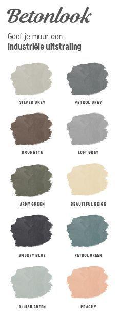 Geef je muur nu gemakkelijk zelf een look die #industrieel en #robuust is in een van deze populaire kleuren. Voor welke kleur zou jij gaan?