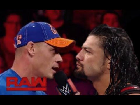 John Cena Returns and Attacks Roman Reigns : Raw, July 3 , 2017 - YouTube