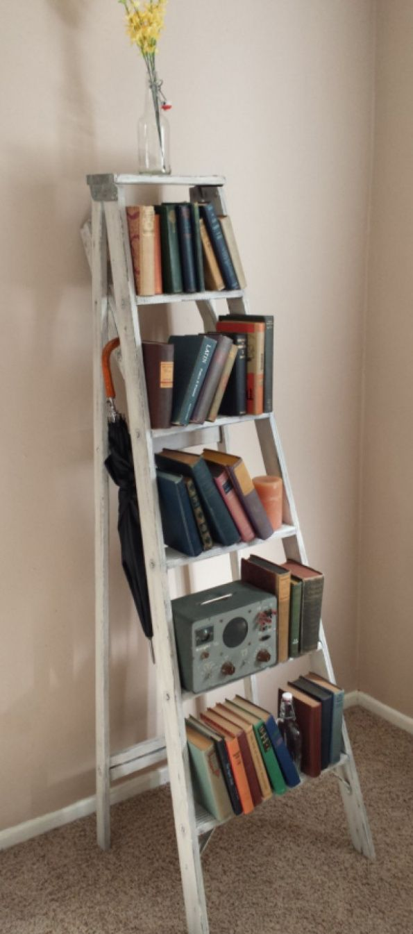 Best 25+ Ladder bookcase ideas on Pinterest | Bookshelf diy, Bookshelf  ladder and Ladder shelf decor