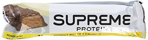 Supreme Protein Quadruple Layer Protein Bar Peanut Butter Crunch 12 Bars x 3 oz 86g 23 lbs 1032g -- Click image to review more details.