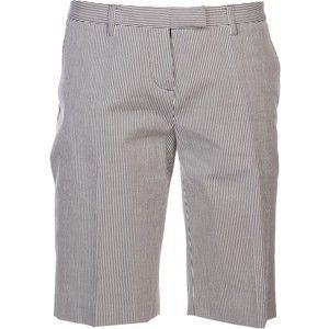 Lucien Pellat Finet skull striped bermuda shorts