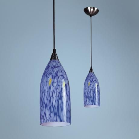 verona collection dazzling blue mini pendant chandelier