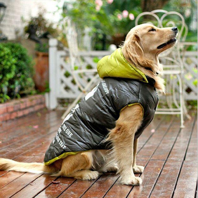 Para Grandes Ropa de Invierno Perro Mascota Ropa Grande Ropa Abrigo Productos Para Mascotas de Alta Calidad Por la Chaqueta de Algodón Acolchado Abrigo 1 unids/lote