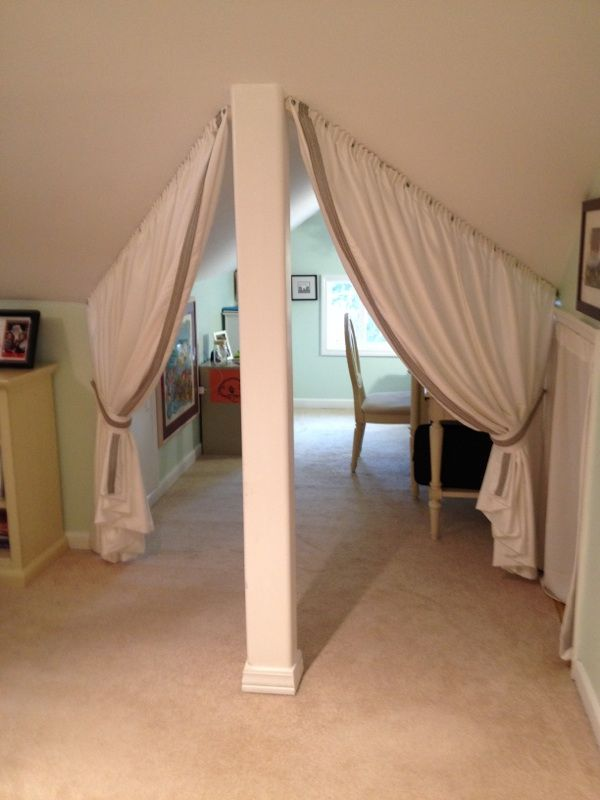 Bedroom Slanted Ceiling Room Dividers Decorating Ideas For