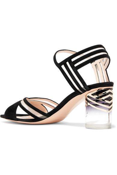 Nicholas Kirkwood - Zaha Mesh-paneled Suede Sandals - Black - IT40