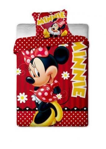 Minnie Mouse - Ložní souprava, Red dot. Spánek jako v bavlnce zajistí Vašim dětem kvalitní Disney ložní souprava v červené barvě s motivem myšky Minnie.