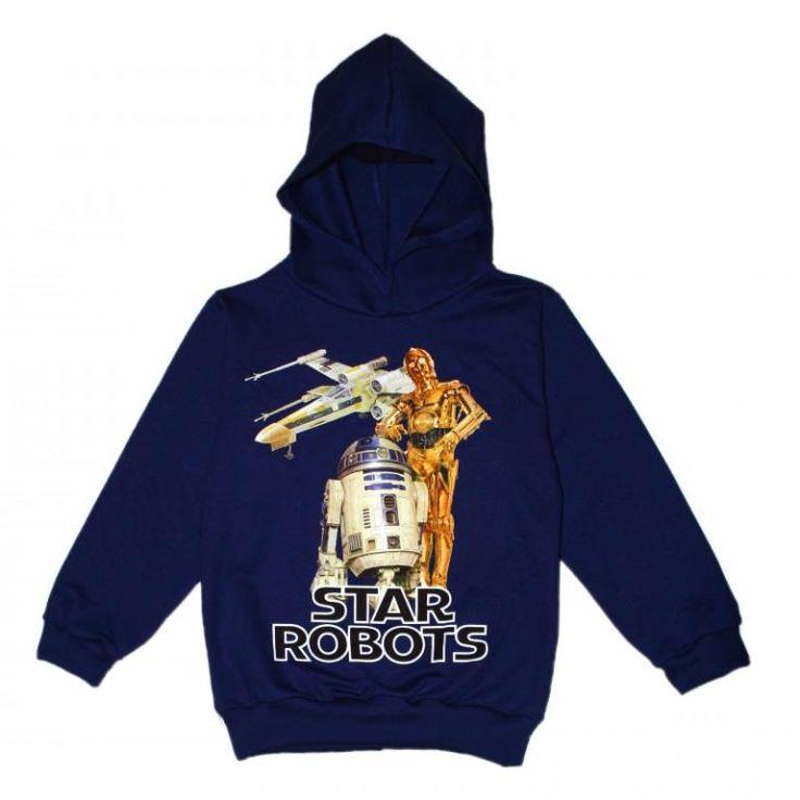 Bluza  STAR ROBOTS - POLSKA-140 granat