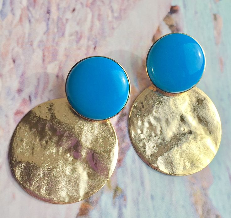 Summer turquoise earrings Made in Italy by Matildesign. Bijoux e fashion jewelry. Orecchini moda