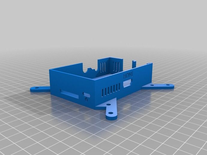 Raspberry Pi Case with VESA Mount by beardface - Thingiverse