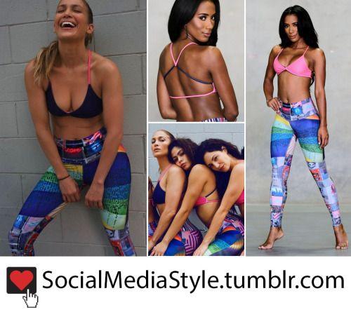 65d09281b0 Buy the Jennifer Lopez x Niyama Sol Navy and Pink Sports Bra and Vanguard  Tribute Leggings, here!