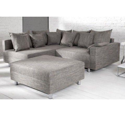 Canapé d'angle modulable Loft gris
