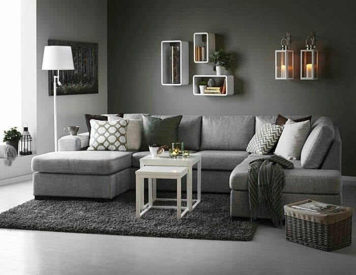 Sectional for sure. Pref grey. With seats for four or more. And an ottoman.