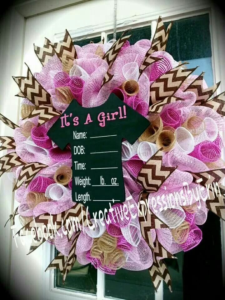 15 Best Images About Wreaths Baby On Pinterest Diaper