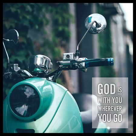 God Is With You Wherever You Go Canvas Box Plaque