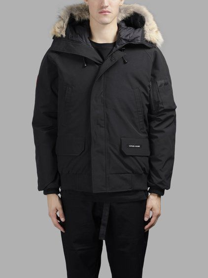 CANADA GOOSE CANADA GOOSE MEN'S BLACK CHILLIWACK HOODED BOMBER JACKET. #canadagoose #cloth #