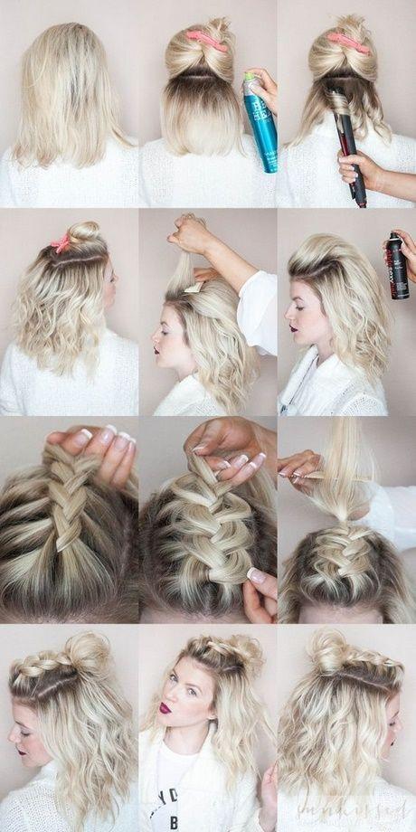 Süße Sommer Frisuren für mittellanges Haar