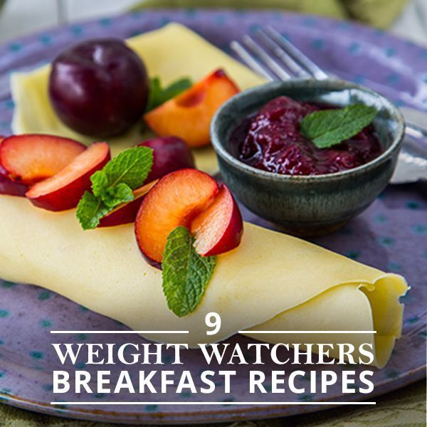 9 Weight Watchers Breakfast Recipes including these healthful crepes!  #weightwatchersrecipes #breakfastrecipes