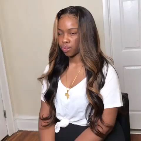 So silky ombre hair color body wave 360 lace wig😍 #chinalacewig #haircolor #ombre #lacefrontalwig #360lacewig #hairdye #hairstylist #wigvideo #wigforblackwomen #blackgirlmagic #wigshow