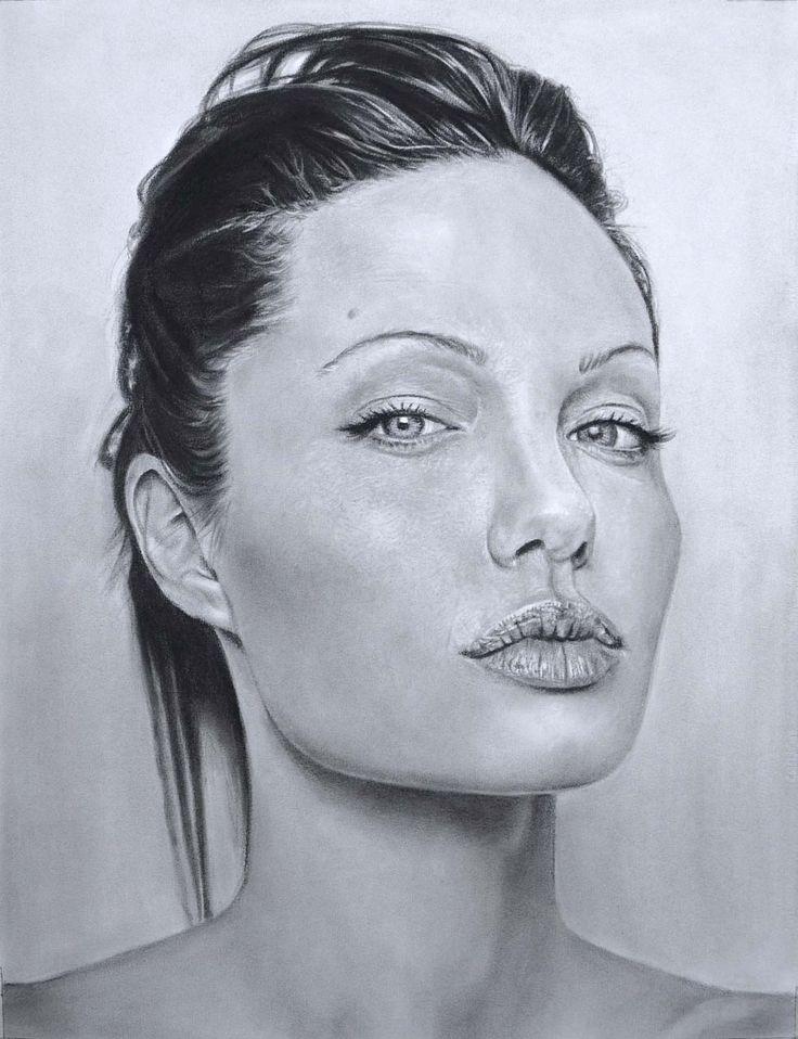 retrato-carboncillo-mujer-realista