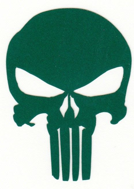 The Punisher highly reflective green fire helmet die cut decal window sticker   | eBay