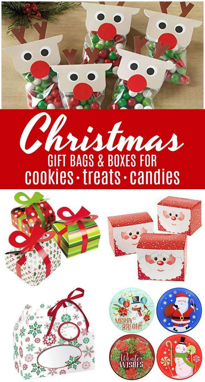 Cheap Christmas Gift Treat Bags And Boxes With Images Diy
