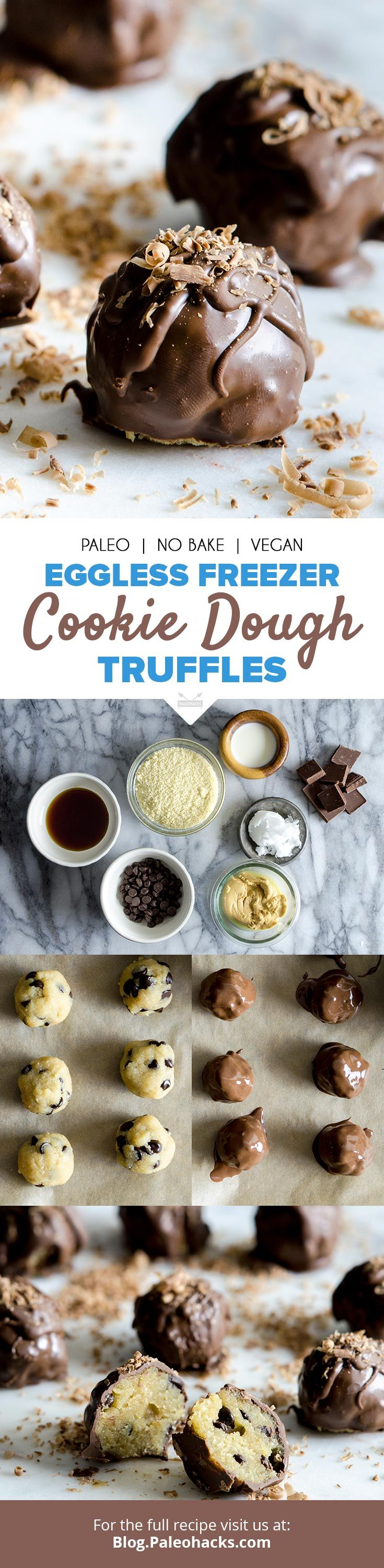Roll up almond flour cookies and dip 'em in decadent dark chocolate for easy, no-bake truffles! Get the full recipe here: http://paleo.co/cookiedoughtruffles