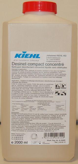 Desinet-compact concentrat are miros neutru si actiune contra bacteriilor.