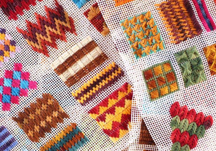 Puntos en rejilla para tapices o alfombras de trapillo | El blog de trapillo.com