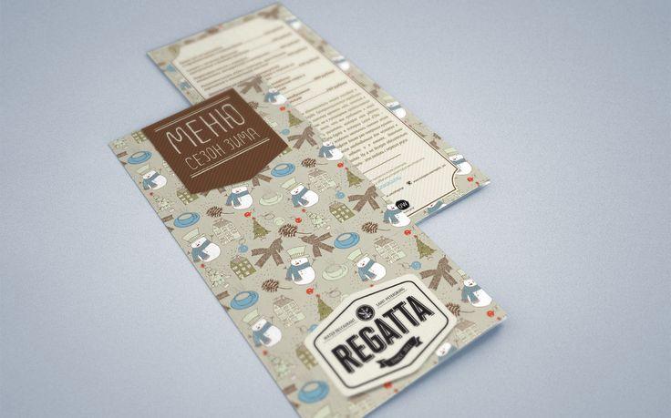 Зимние меню ресторана Regatta (nice winter menu restaurant cafe design ad beautiful)