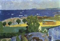 Sommelandskabmed udsigt mod havet by Olaf Rude
