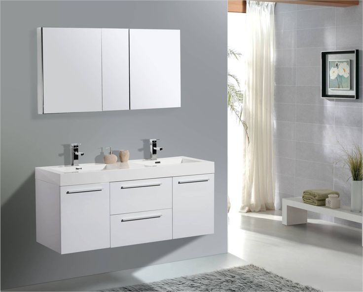 54 inch bathroom vanity double sink. AQUA DECOR Austin 54 Inch Modern Double Sink Bathroom Vanity W  Medicine Cabinet 30 best Vanities 47 TO 69 images on Pinterest