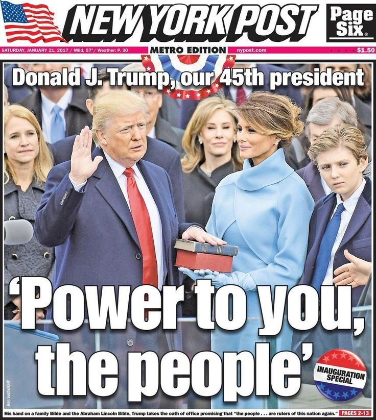 Newspaper Front Pages Around The World On The Inauguration Of Donald Trump