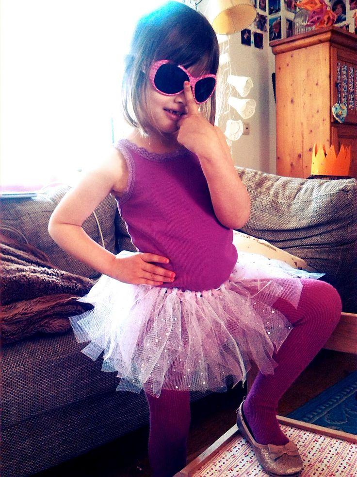 Der Bastelblog: Tüllröckchen für kleine Ballerinas - ohne Nähen!