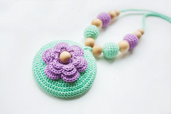 Teething necklace/ Nursing necklace for by NecklacesForMommy, $26.00