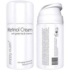 Beste Retinol-Creme von Poppy Austin® für Tag und Nacht. Eine ausgezeichnete Anti-Aging-Feuchtigkeitscreme für das Gesicht. Enthält Vitamin E, Grüner Tee, Sheabutter und 2,5% Retinol. 2015 Wahl zur besten Anti-Falten-Creme. Große 100ml Flasche