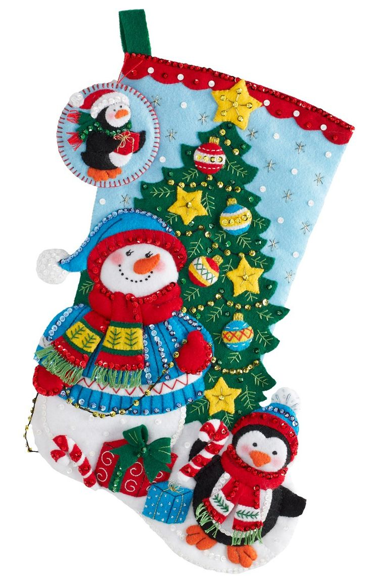 219 Best Bucilla Felt Christmas Stockings Images On